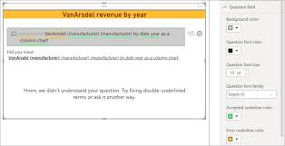 Use The Power Bi Q A Visual Power Bi Microsoft Docs