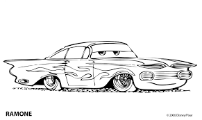 Cars Coloring Pages Ramone Nationwideremotecom