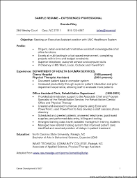 Resumes For Experienced Professionals Free Resume Example And