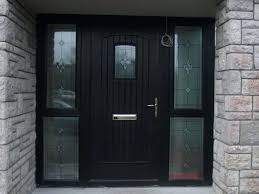 front door with side panel glass composite front door with side glass panels