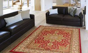 Red Living Room Rug Oriental Black Brown Ivory Red Persian Medallion Area Rug Border