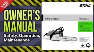 Stihl Bar Chart Owners Manual Stihl Ms 280 C Chain Saw