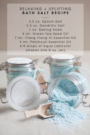 relaxing and uplifting bath salts recipe