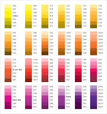 Free 8 Sample Pantone Color Charts In Word Pdf