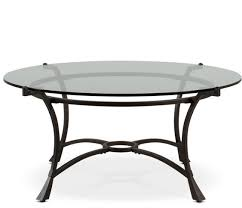 pearson round glass coffee table