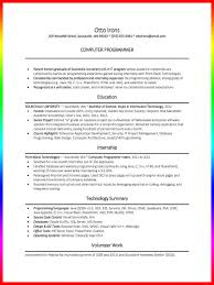 computer science resume sample and writing tips   resume sampleexample entry level programmer resume