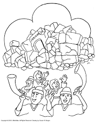 Joshua Fought The Battle Of Jericho Coloring Pages Biblewisecom