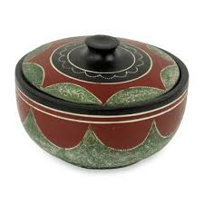 decorative wood bowl adipaa african decorative carved wooden bowl with lid