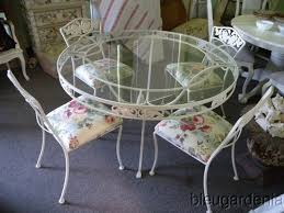 wrought iron vintage patio furniture. Awesome Vintage Patio Table And Chairs 1940s Hammacher Schlemmer Wrought Iron Furniture U