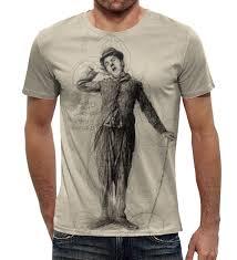 "Футболка с полной запечаткой (мужская) ""<b>Charlie Chaplin</b> ..."
