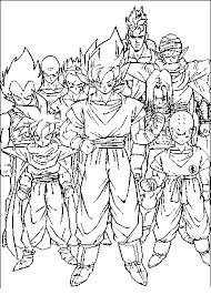 Small Picture Dragonball Z Coloring Pages Dragon Ball Coloring Pages
