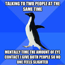 Talking to two people at the same time Mentally time the amount of ... via Relatably.com