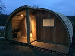 pods and cabins with shower rooms