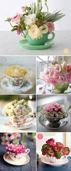Decorating With Teacups And Saucers Pin by Carmen Romero on Arreglos con Flores Pinterest Kansas 24