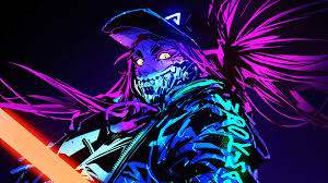 Neon Wallpaper Hd 4k Anime - 3 art