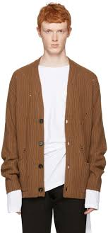 Maison Margiela Sweater Cheap Maison Margiela Brown Oversized