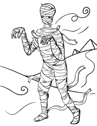 Small Picture Free Mummy Coloring Page