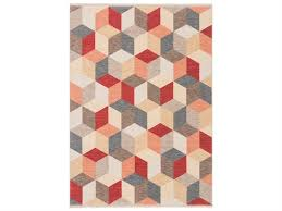 ligne pure love beige red blue brown yellow rectangular area rug 045