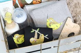 customized sloth baby gift basket such an adorable theme love it from overthebigmoon