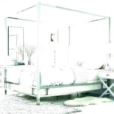 Wooden Canopy Bed White Frame Queen Beds Bamboo Wood Diy King Size ...