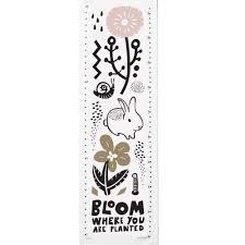 Growth Chart Stencil Designs Bloom Canvas Growth Chart
