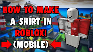 How To Create An Outfit On Roblox How To Make A Shirt In Roblox On Mobile Iphone Ipod Ipad Android