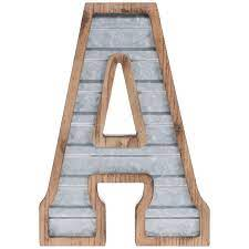 galvanized metal letter wall decor a