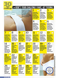 24 Day Challenge Chart 30 Day Challenge How To Get A Toned Tum Quickly Woman