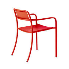 tolix patio stackable armchair red