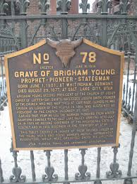 Image result for brigham young grave