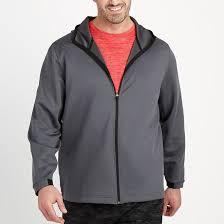 full zip hooded lightweight knit jacket