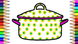 Small Picture How to Draw Kitchen Utensils Cooking Pot Coloring Page