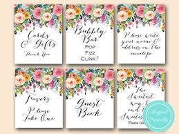 ... sn34 bs138 painted hand drawn floral decoration signs, wedding  signages, bridal shower signs ...