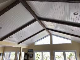 Vaulted ceiling wood beams Rustic Complete Your Vaulted Ceiling Decorating Ideas With Touch Of Faux Wood Thebigadventureco Vaulted Ceiling Ideas Enhance Your Home Design With Ease
