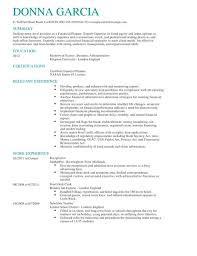 Financial Advisor Assistant Sample Resume Awesome Cv Planner Template Kenicandlecomfortzone