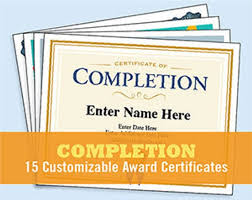 Certificate Of Completeion Certificate Of Completion Bundle Of Appreciation Digital Templates Certificate Of Participation Happy Birthday Award Templates Teacher