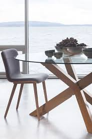 round gl dining table solid wood tripod legs article trina modern furniture in 2018 casa de co playa tables dining area and