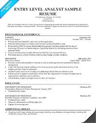 Entry Level Data Analyst Resume Template Word Excel Format With