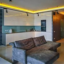 indirect lighting ceiling. Indirect Ceiling Lighting In Yellow Color For Kitchen