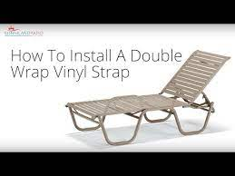 to install a double wrap vinyl strap