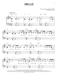 adele sheet music hello sheet music direct