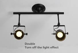 wall track lighting. aliexpresscom buy vintage clothing store led bar track lighting ceiling wall with the long pole lamp light rail from reliable lights black suppliers