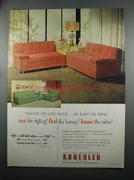 1950S Interior Design Awesome 48 Kroehler Furniture Sofa And Lounge Chair Ad 48's Interior