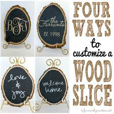 reversible glittered monogrammed wood slice oh yeah tree craftswood craftsdiy