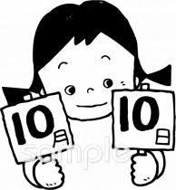 10月10日イラストなら小学校幼稚園向け保育園向け健康医療施設