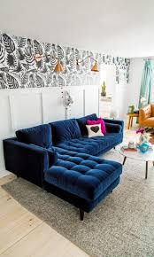blue velvet sectional. Delighful Sectional New Blue Velvet Sectional Sofa 13 In Living Room Inspiration With  To R