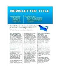 Newsletter Format Examples Internal Newsletter Template