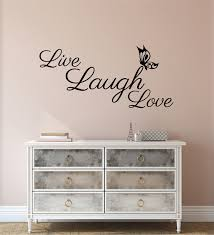 wall sticker e love laugh live inspirational wall decal decor bedroom fixate on madeit