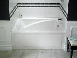 neptune delight soaker tub with integrated skirt 59 3 4 x 32 21 pertaining to foot