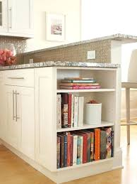 kitchen cabinet end shelf i want open shelves at one end of island to display cookbooks